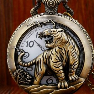 New tiger pocket watch battery included